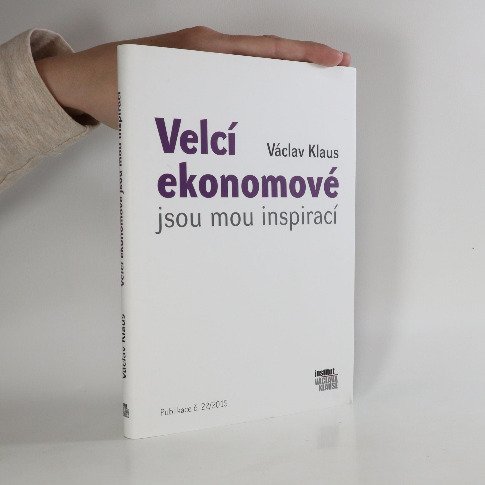 antikvární kniha Velcí ekonomové jsou mou inspirací, 2015