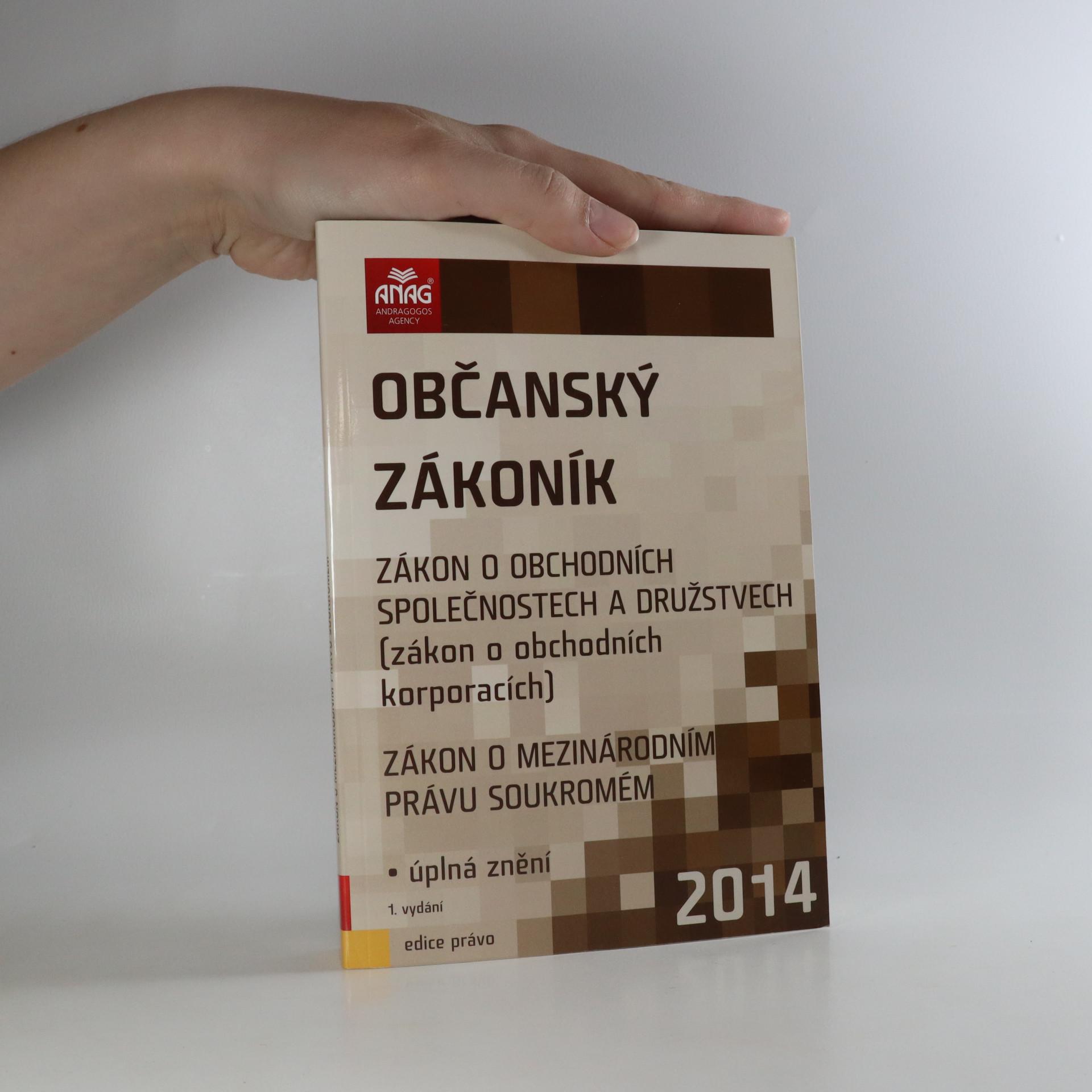 antikvární kniha Občanský zákoník, 2014