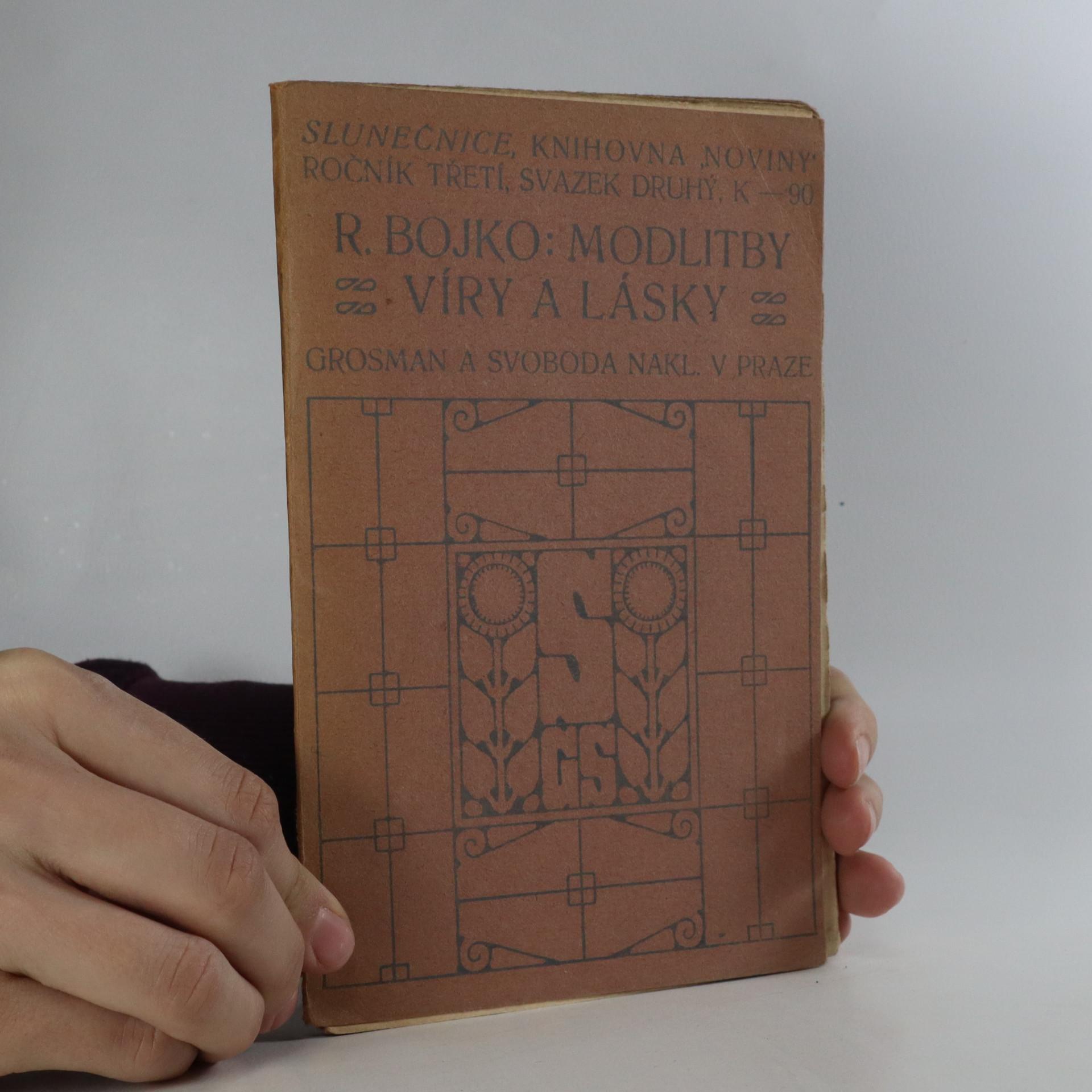 antikvární kniha Modlitby víry a lásky, 1912