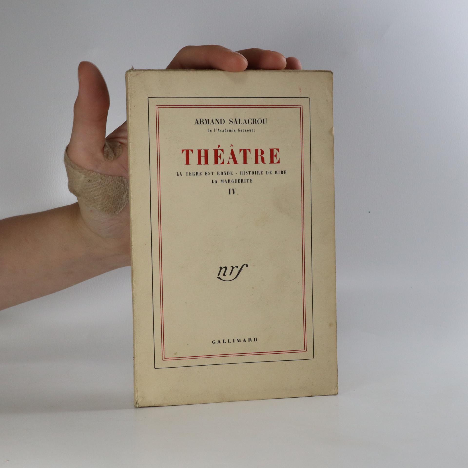antikvární kniha Théatre, neuveden