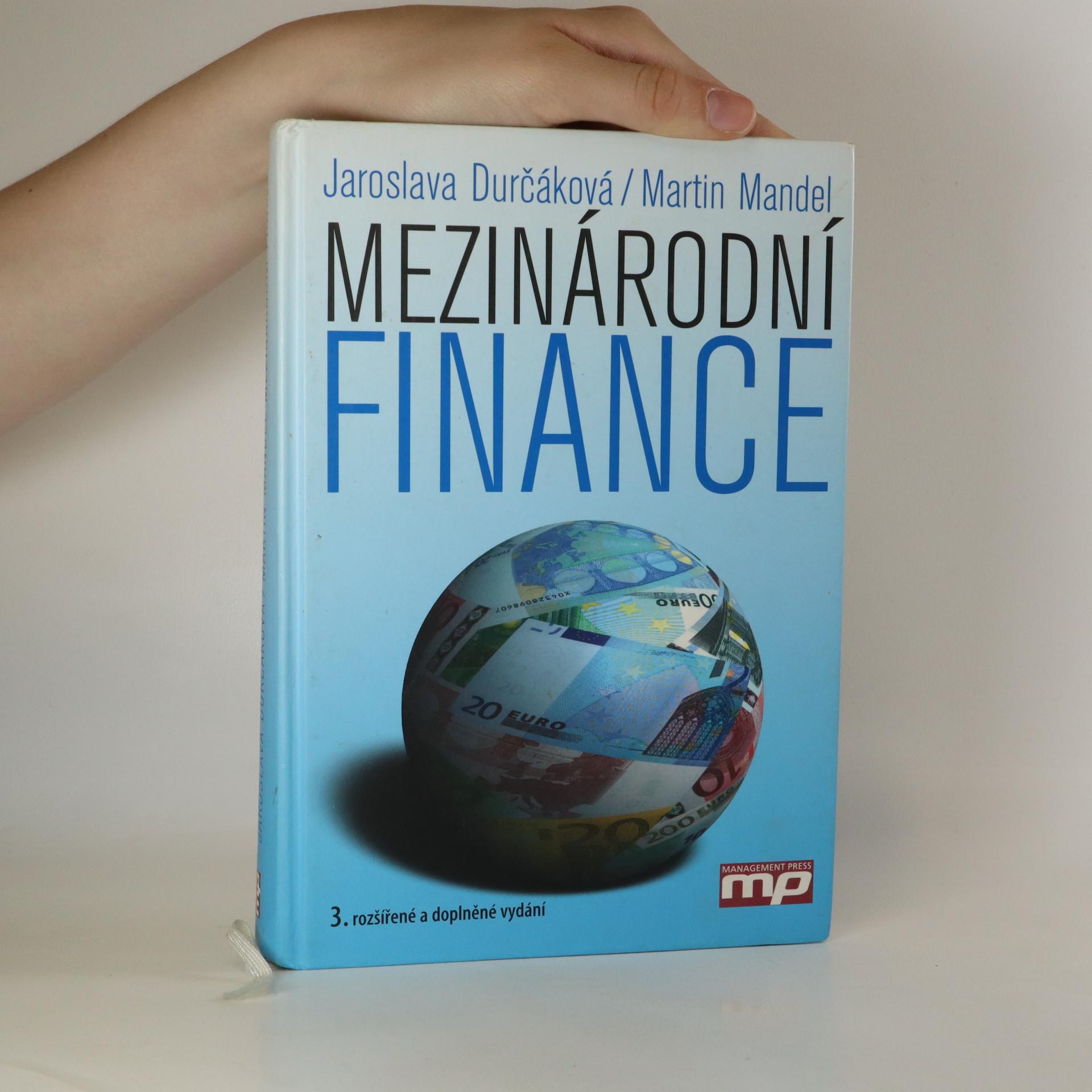 antikvární kniha Mezinárodní finance, 2007