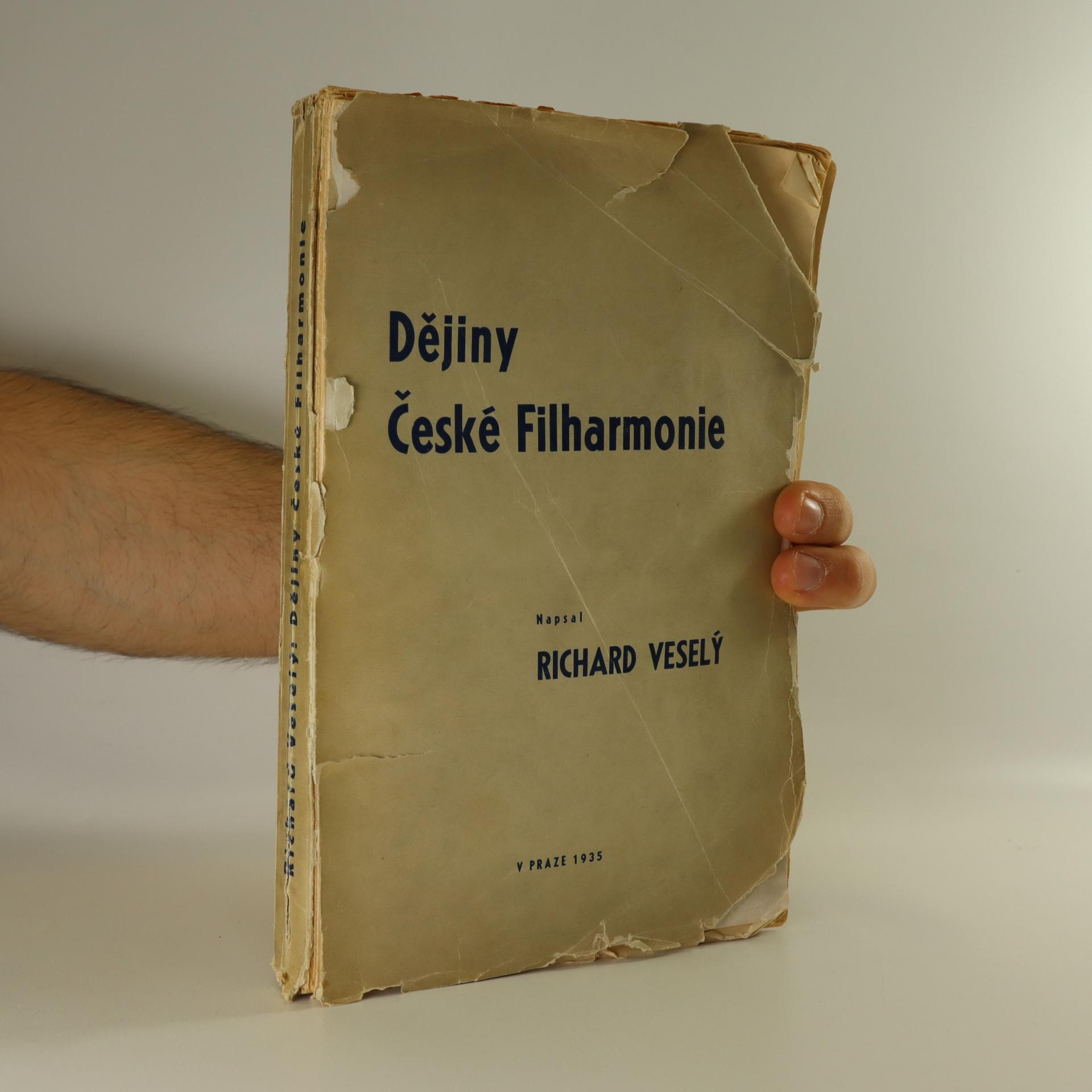 antikvární kniha Dějiny České Filharmonie, 1935