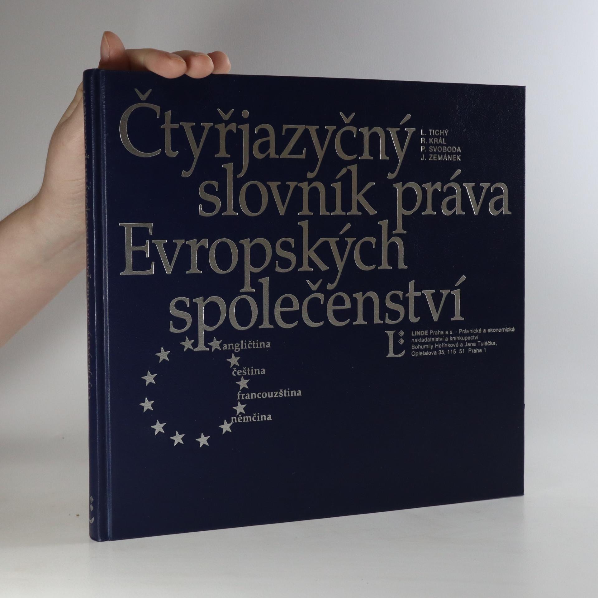 antikvární kniha Čtyřjazyčný slovník práva Evropských společenství, 1997
