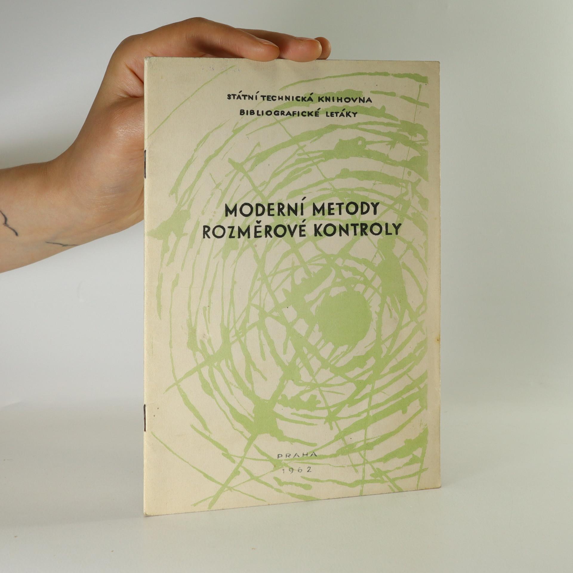 antikvární kniha Moderní metody rozměrové kontroly, 1962