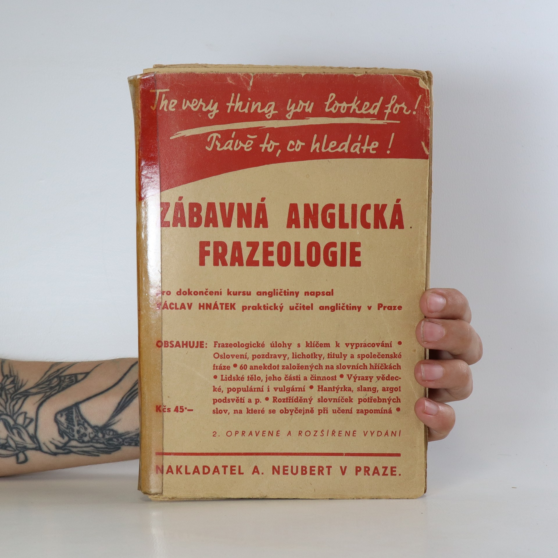 antikvární kniha Zábavná anglická frazeologie, 1946