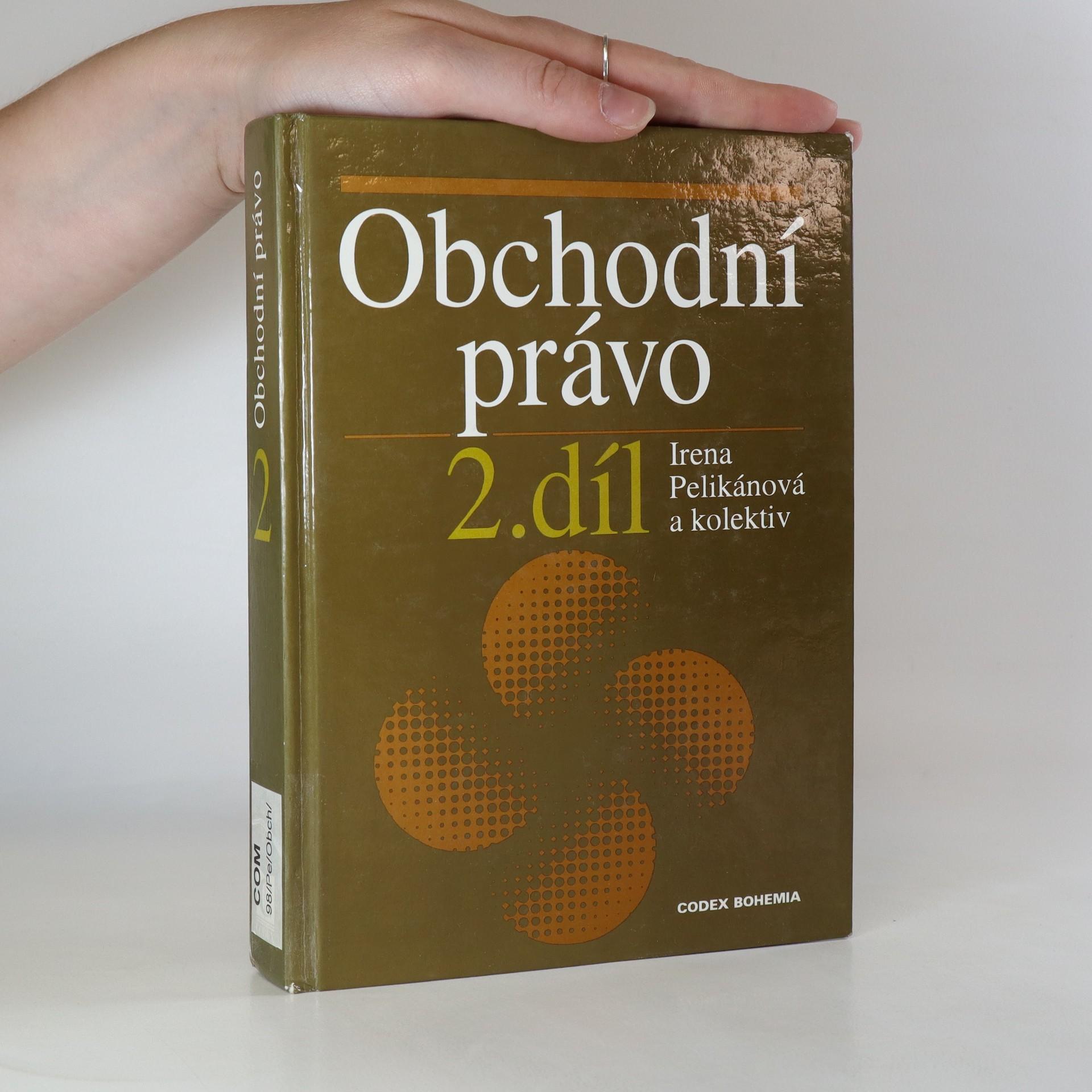 antikvární kniha Obchodní právo. II. díl, 1998