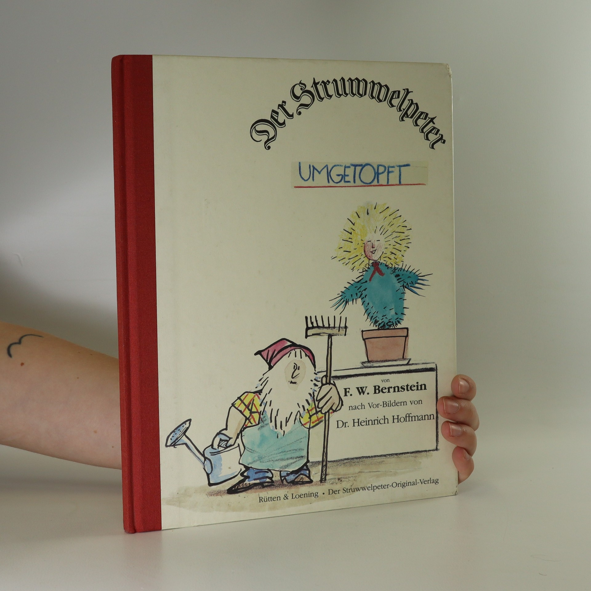 antikvární kniha Der Struwwelpeter umgetopft, 1994