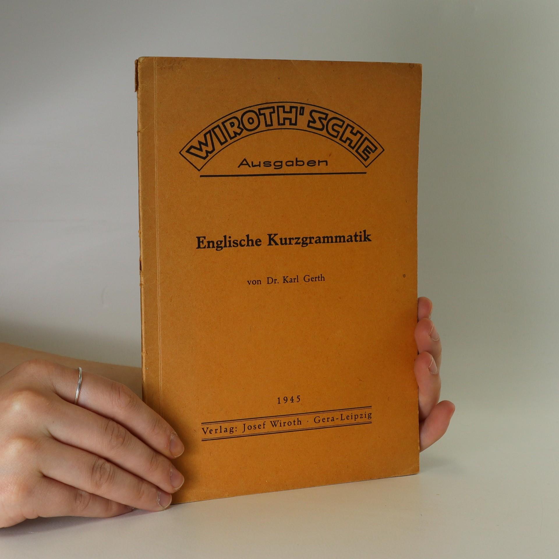 antikvární kniha Englische Kurzgrammatik, 1945