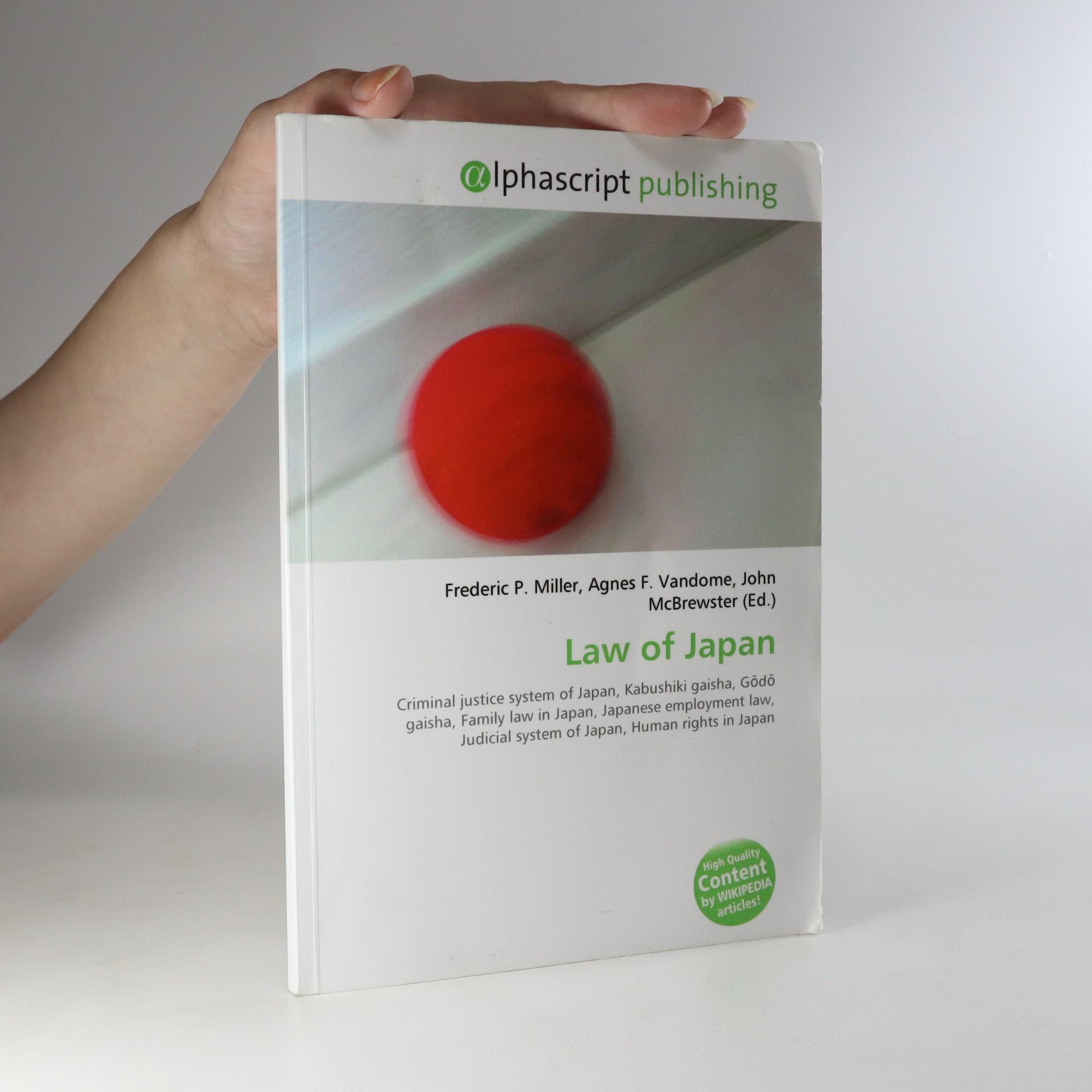 antikvární kniha Law of Japan, 2009