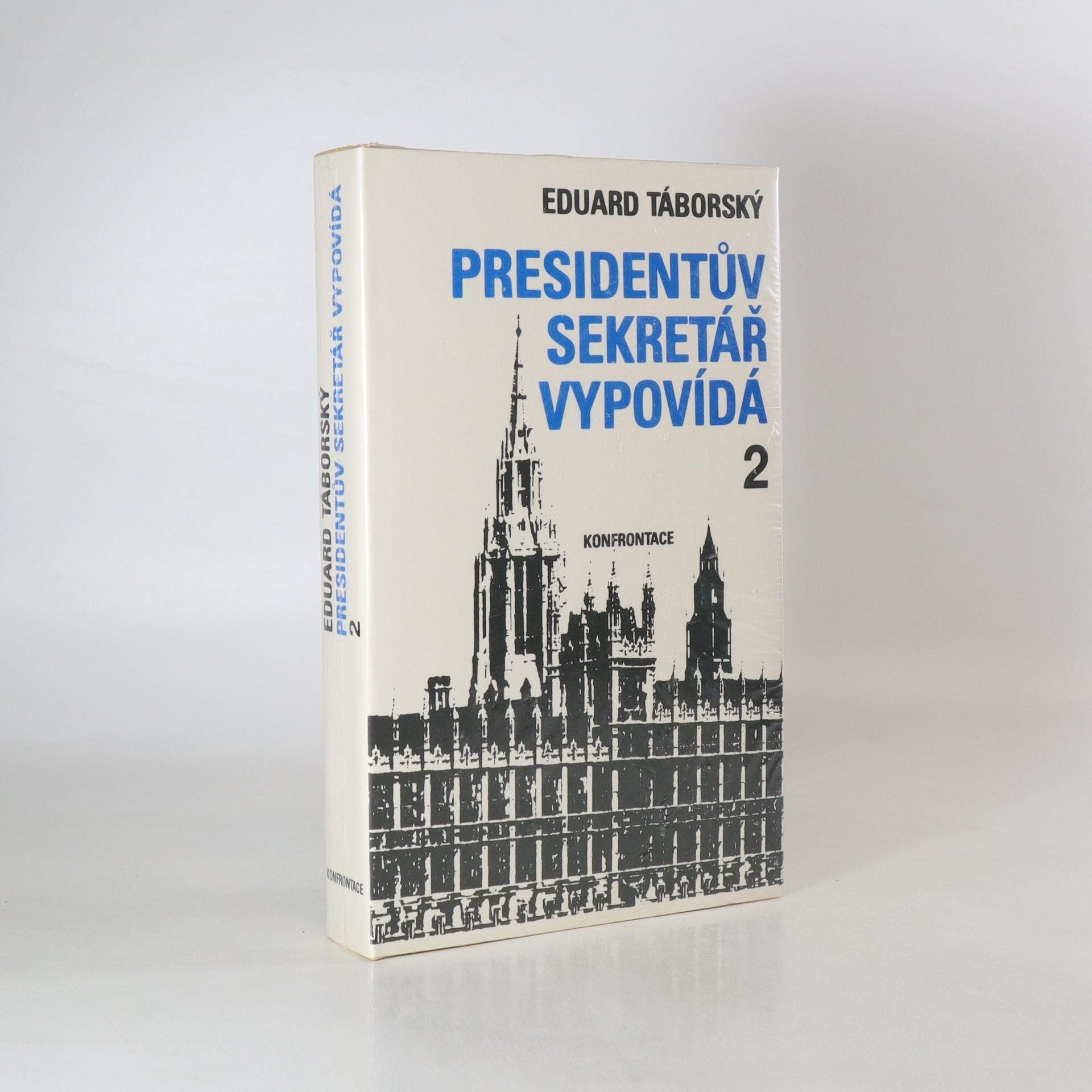 antikvární kniha Presidentův sekretář vypovídá (zabalená kniha), neuveden