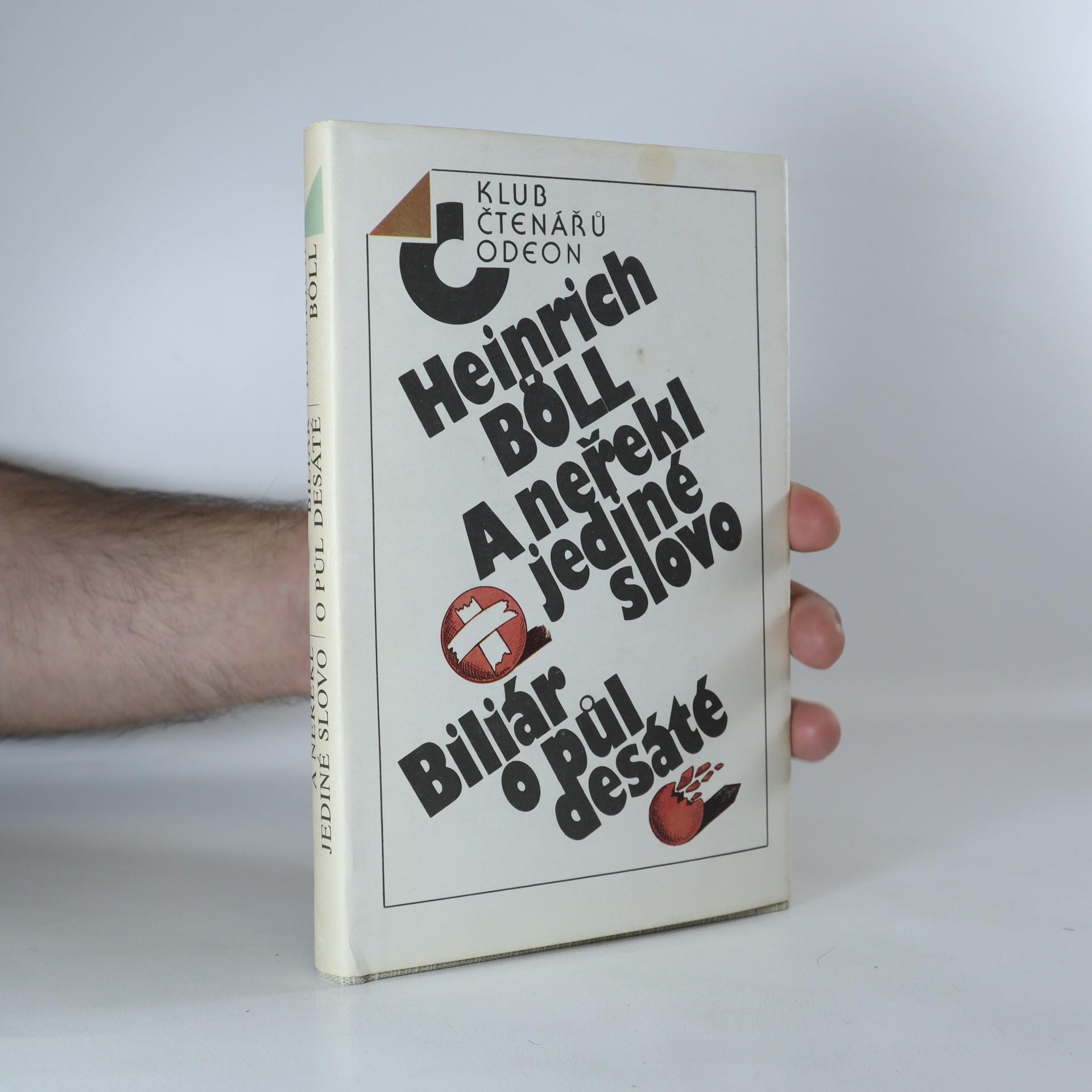 antikvární kniha A neřekl jediné slovo. Biliár o půl desáté, 1988