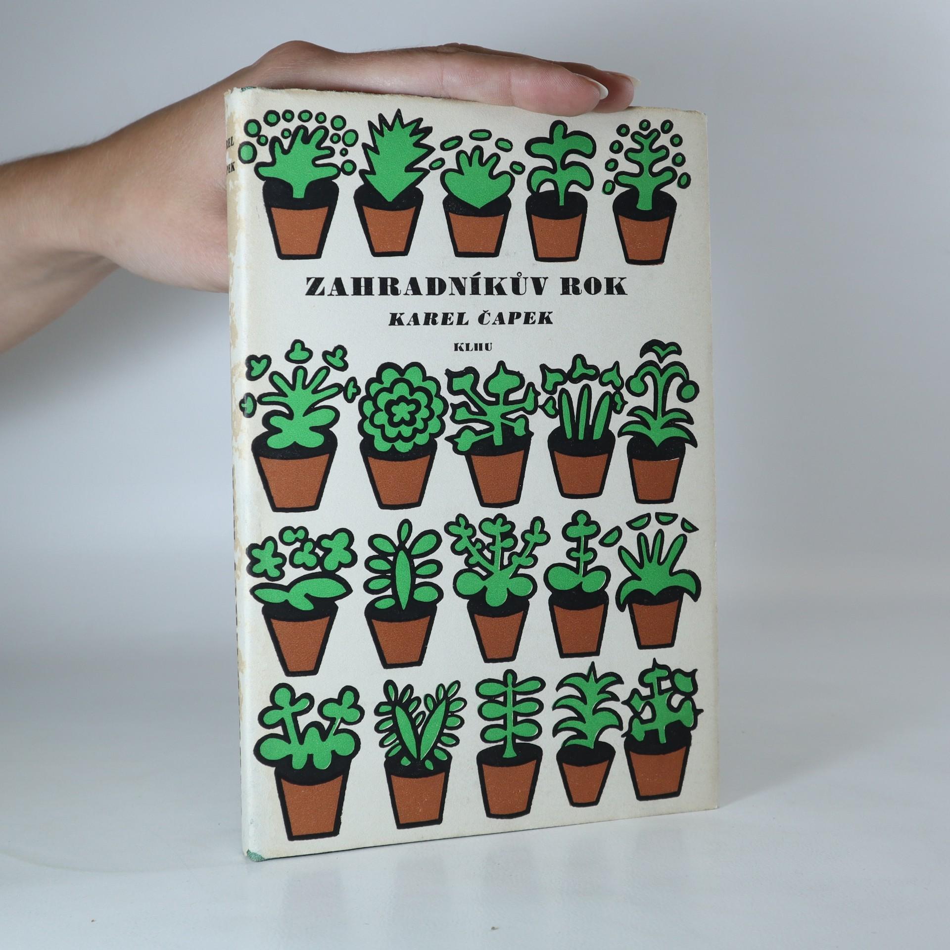 antikvární kniha Zahradníkův rok, 1957