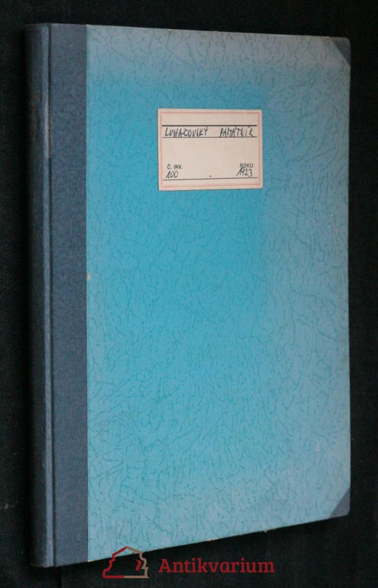 antikvární kniha Luhačovský památník , 1923