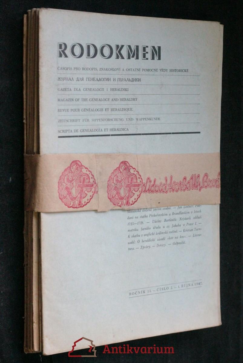 antikvární kniha Rodokmen , 1946-1949