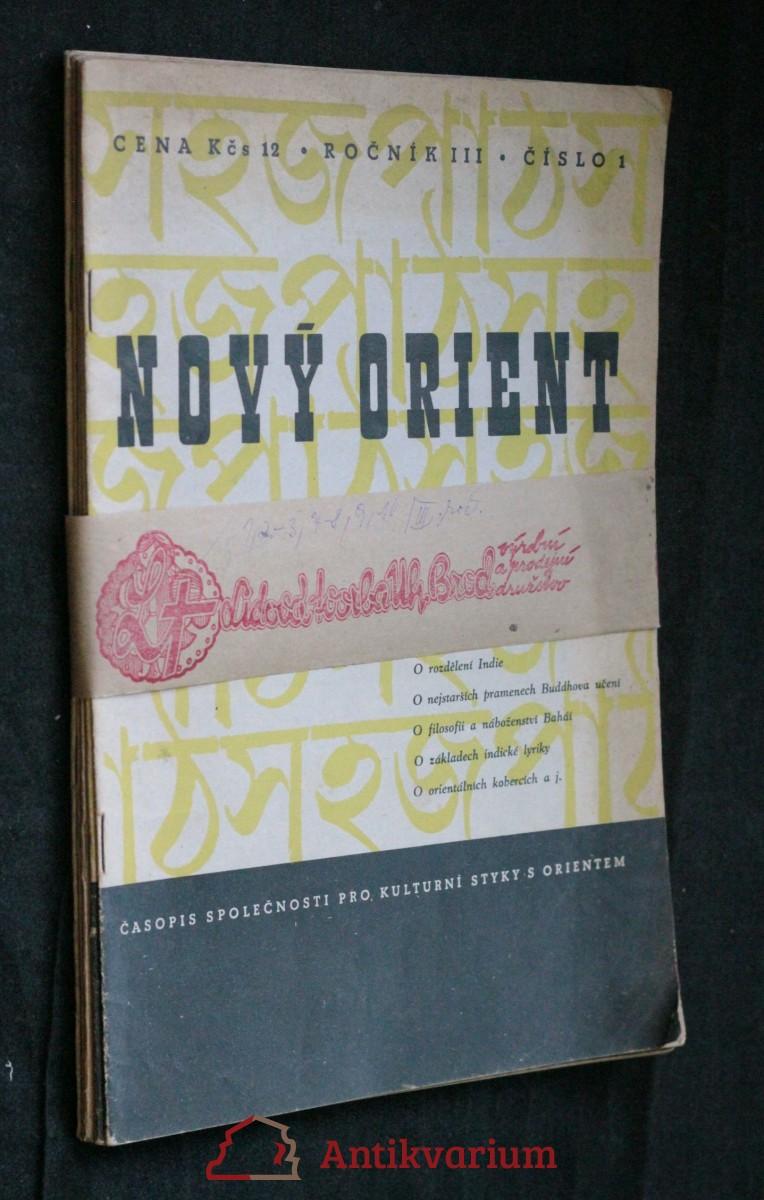 antikvární kniha Nový orient, ročník III. , 1947-1948