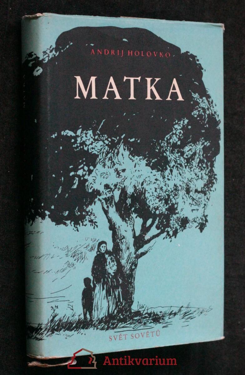antikvární kniha Matka, 1955