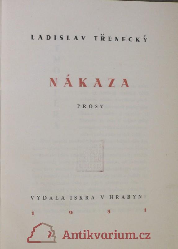 antikvární kniha Nákaza : prosy, 1931