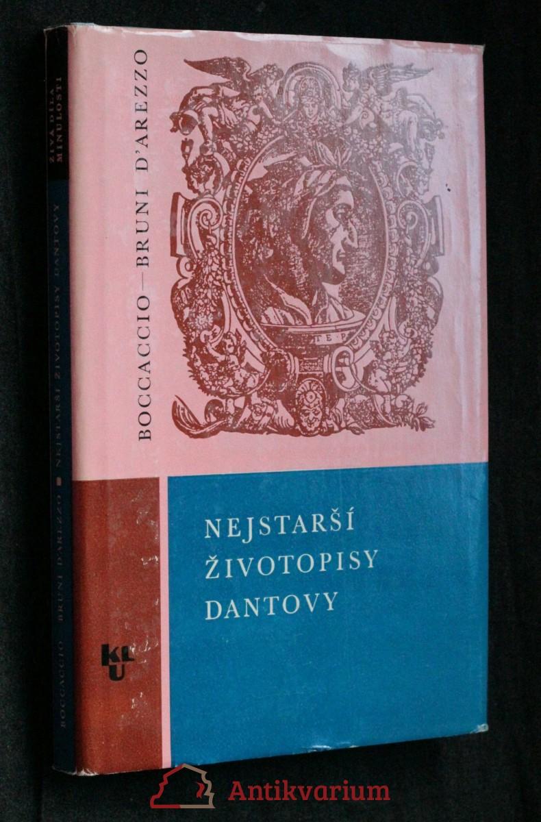 antikvární kniha Nejstarší životopisy Dantovy, 1965