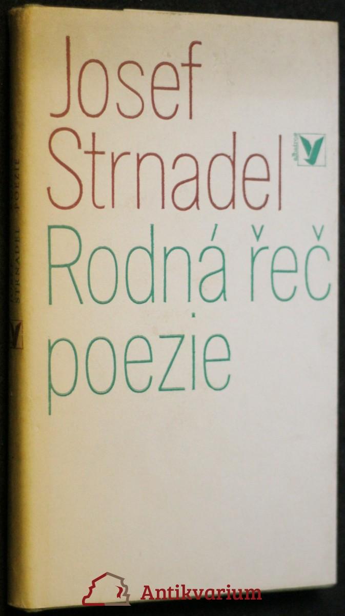 antikvární kniha Rodná řeč poezie, 1978