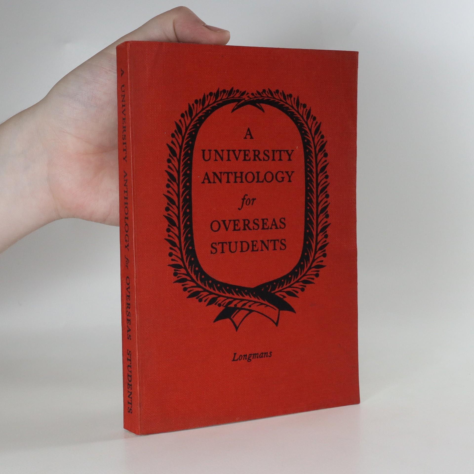 antikvární kniha A university anthology for overseas students, 1955