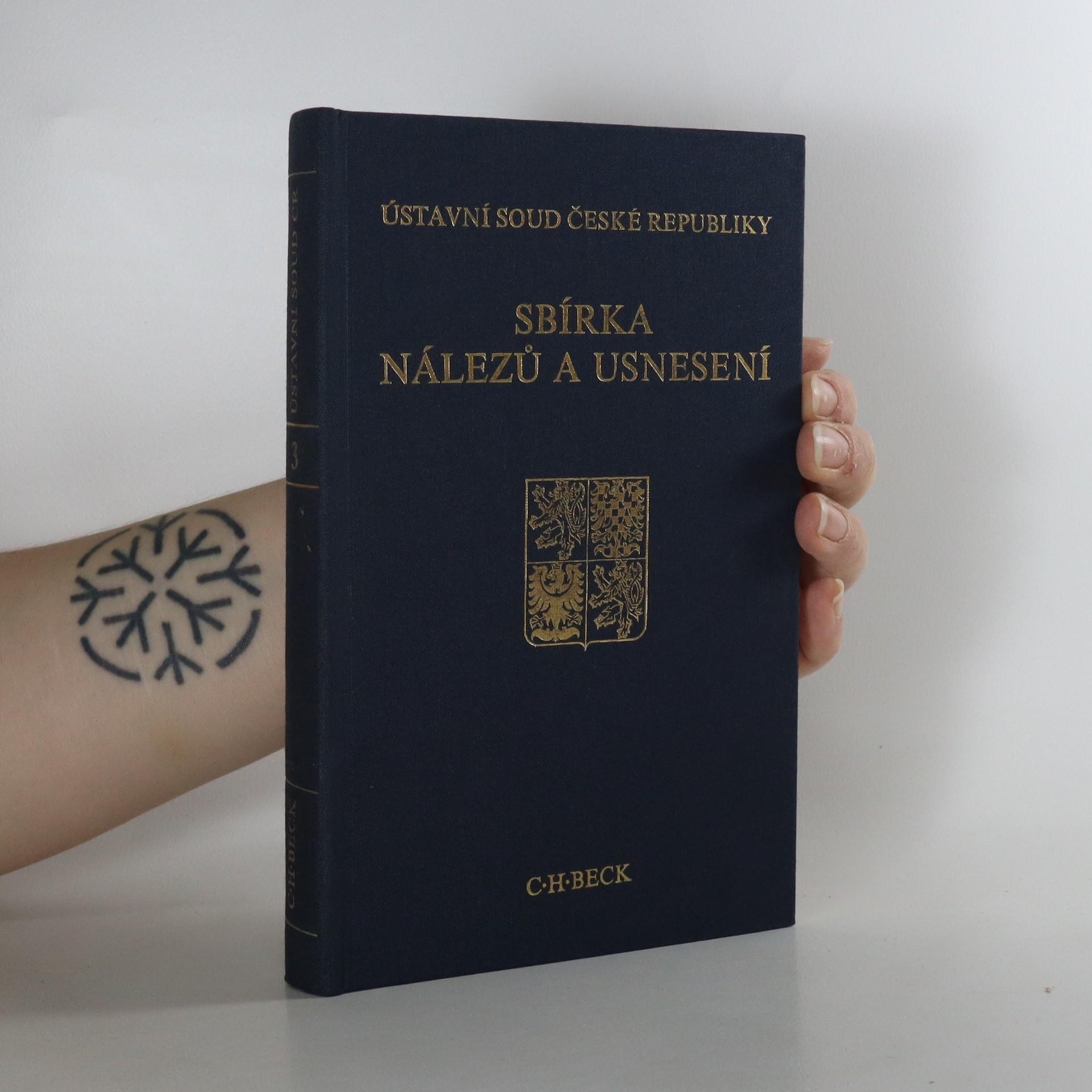 antikvární kniha Ústavní soud České republiky. Sbírka nálezů a usnesení. Svazek 3., 1995