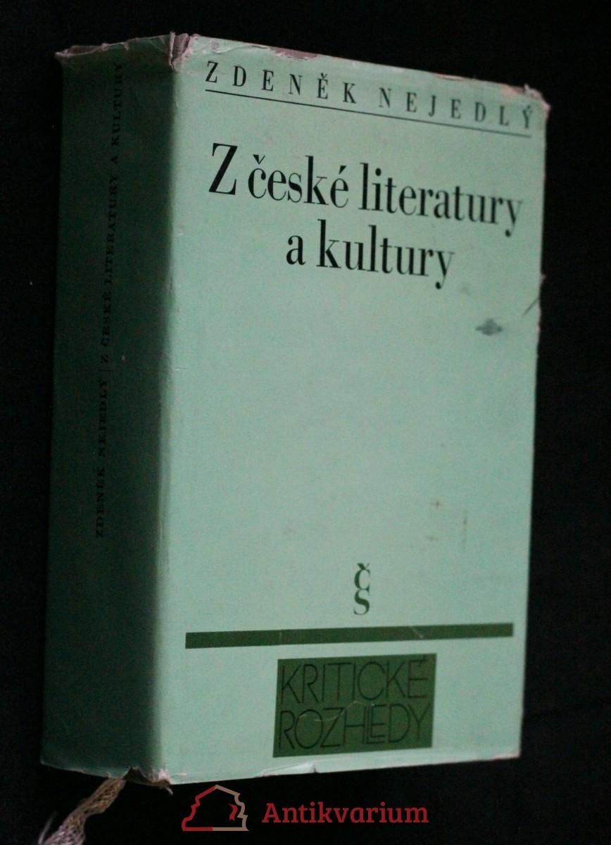 Z české literatury a kultury : 1860-1960