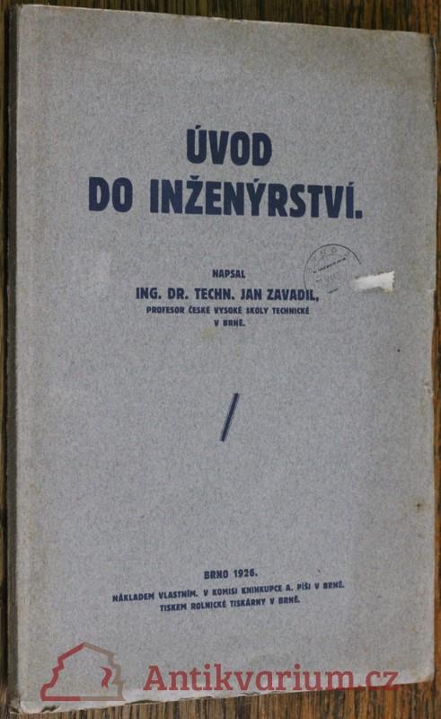 antikvární kniha Úvod do inženýrství, 1926