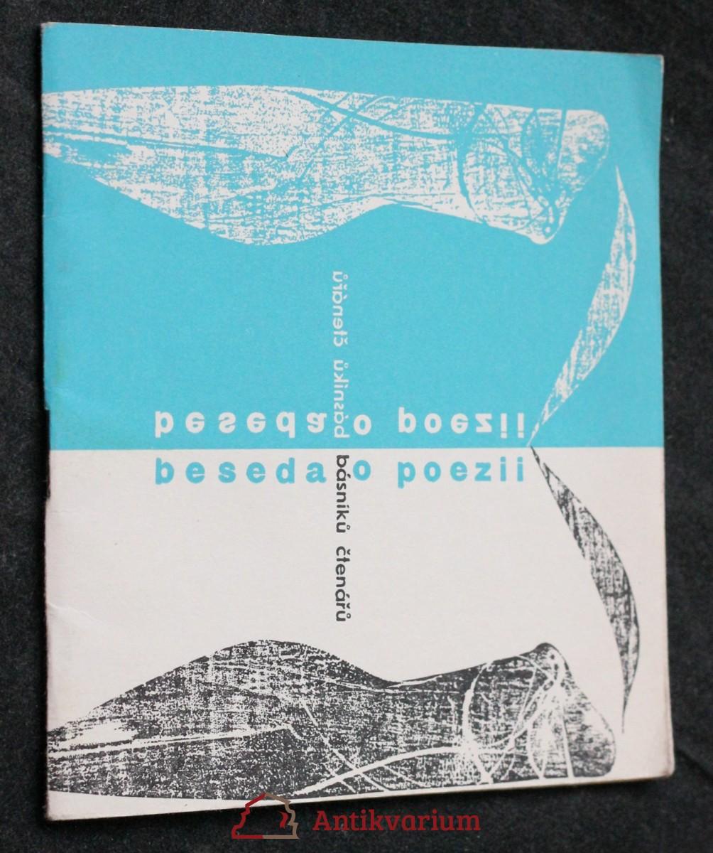 antikvární kniha Beseda o poezii básníků-čtenářů, neuveden
