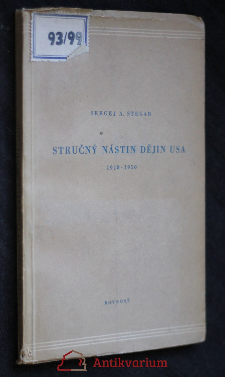 antikvární kniha Stručný nástin dějin USA (1918-1950), 1951