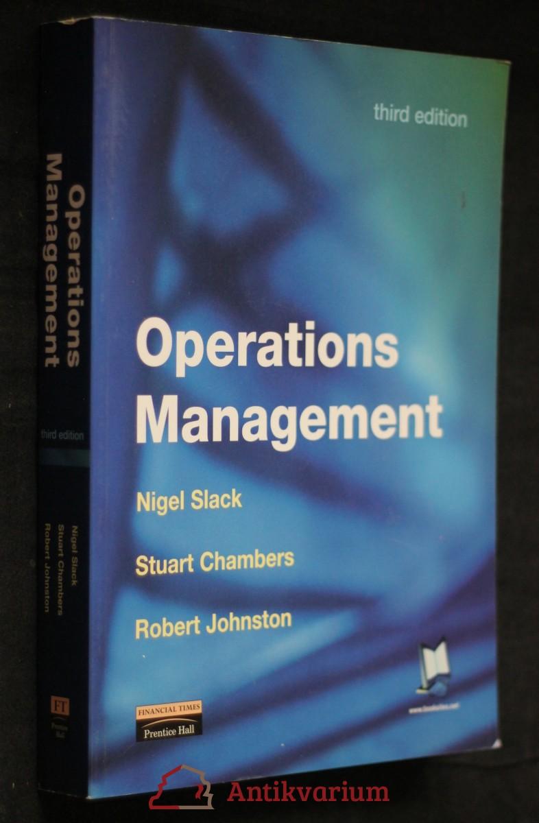 antikvární kniha Operations management , 2001
