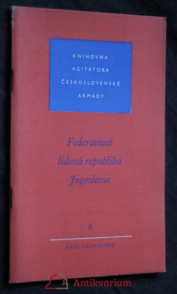 antikvární kniha Federativní lidová republika Jugoslavie 8/1956, 1956