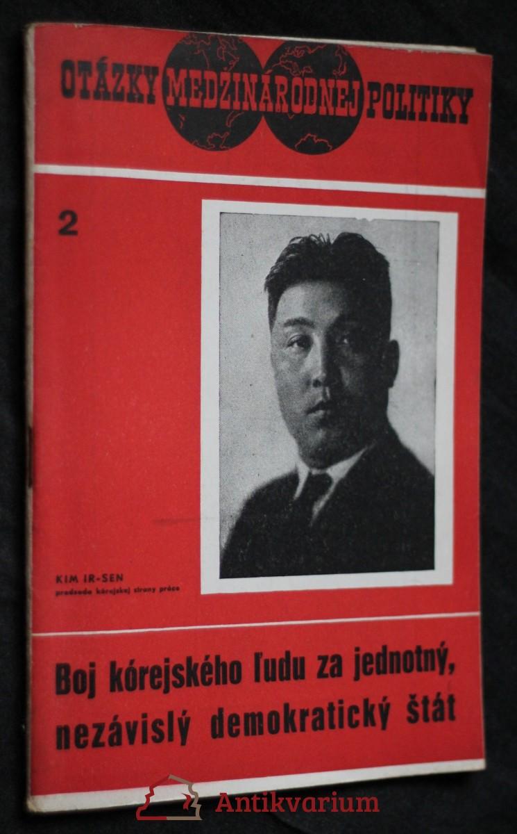 antikvární kniha Boj kórejského ľudu za jednotný, nezávislý demokratický štát, 1950