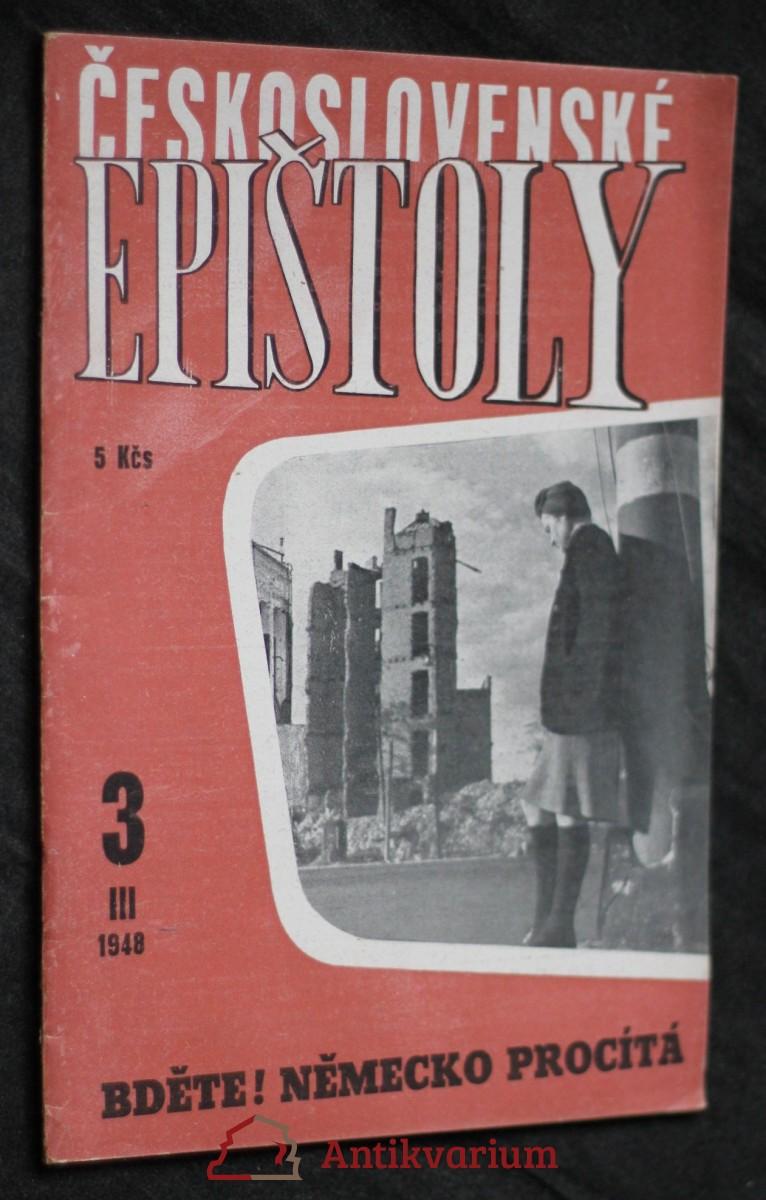 antikvární kniha Československé epištoly: Bděte! Německo procítá III, 1948, 1948