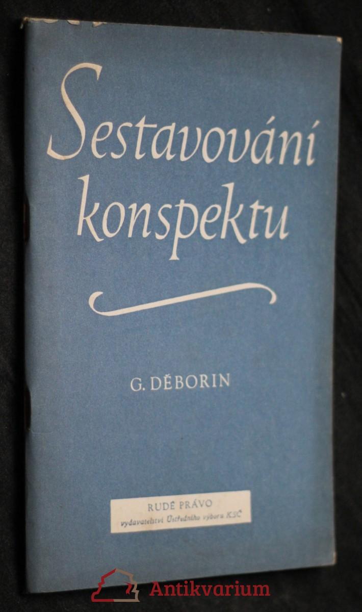 antikvární kniha Sestavování konspektu, 1955