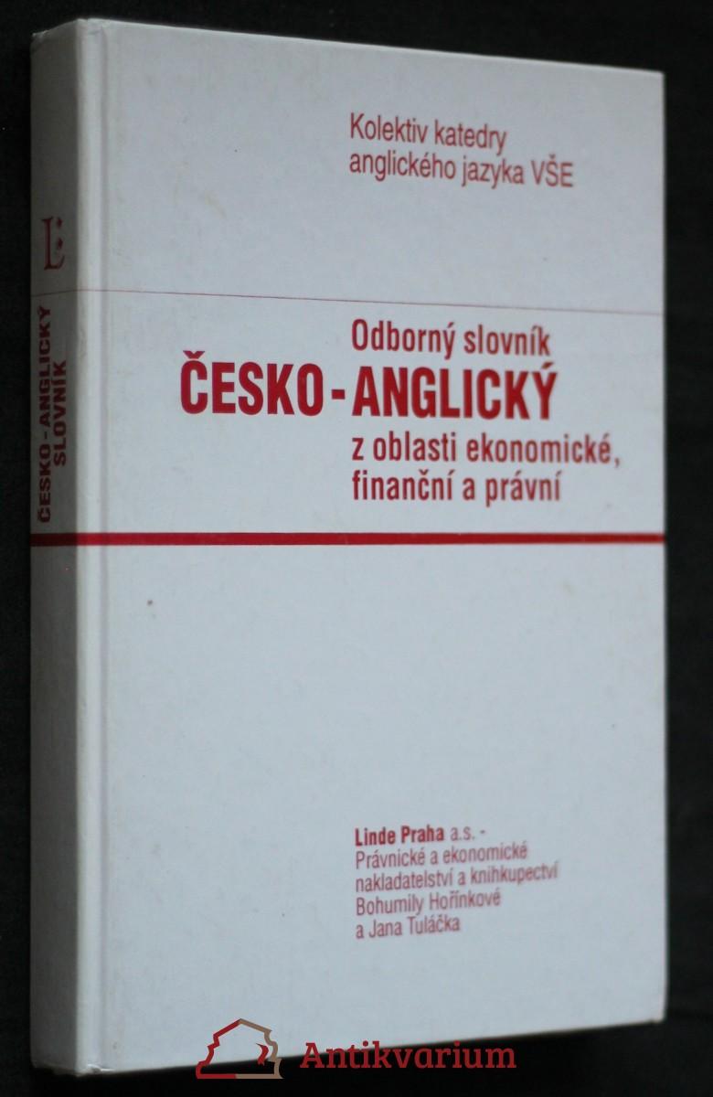 Odborný slovník česko-anglický z oblasti ekonomické, finanční a právní