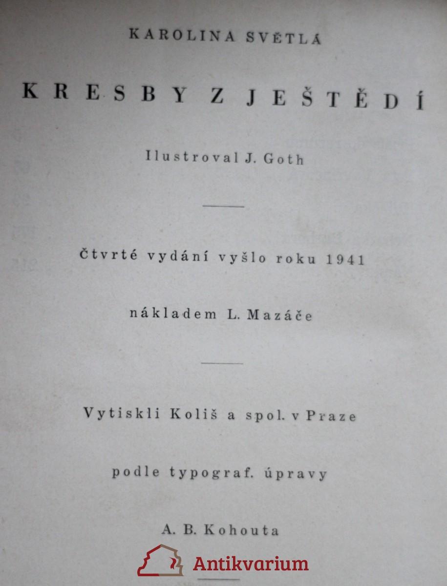 Svetla Kresby Z Jestedi 1941 Antikvariat Praha