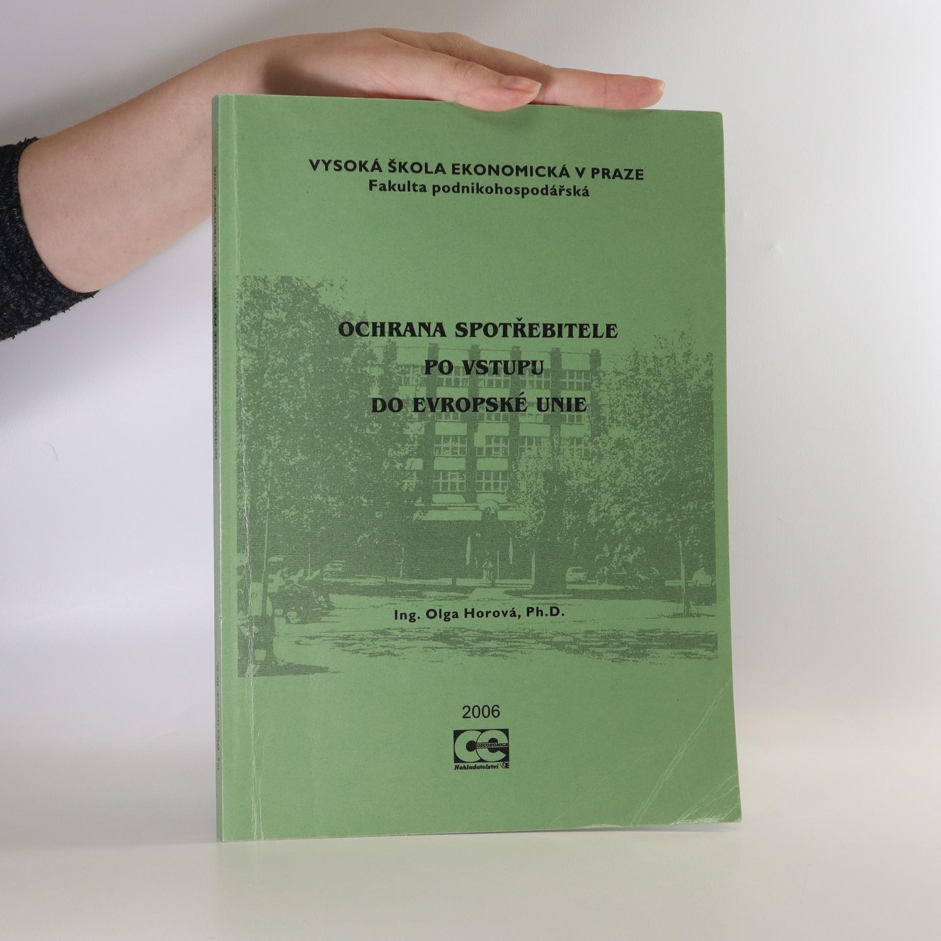 antikvární kniha Ochrana spotřebitele po vstupu do Evropské unie, 2006