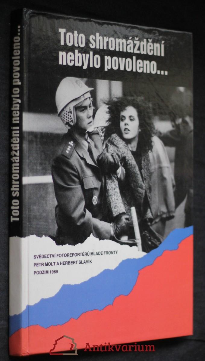 Toto shromáždění nebylo povoleno... : svědectví fotoreportérů Mladé fronty : podzim 1989