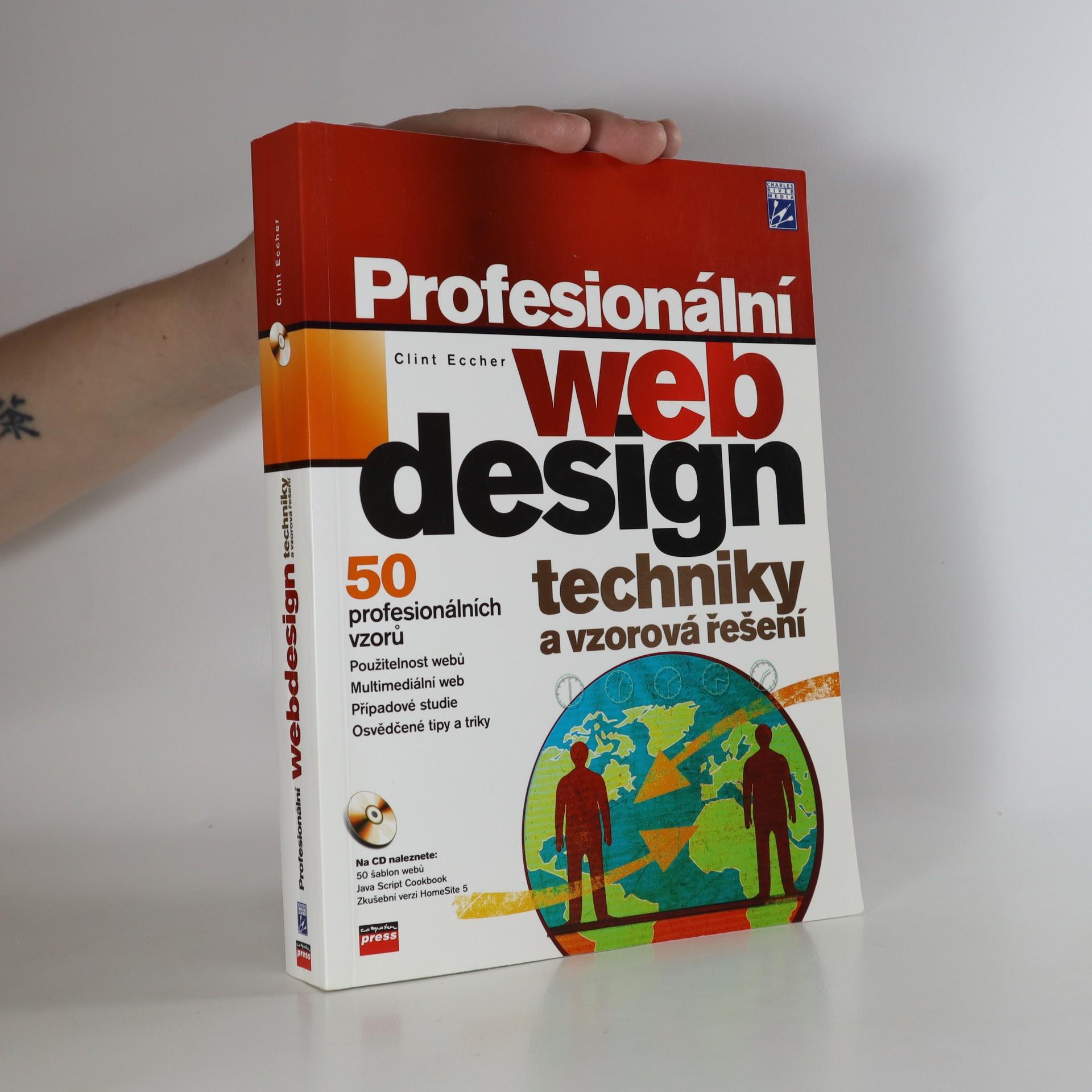 antikvární kniha Profesionální webdesign : techniky a vzorová řešení (chybí CD), neuveden