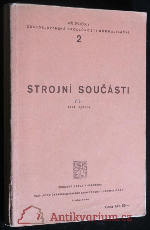 antikvární kniha Strojní součásti, 1946