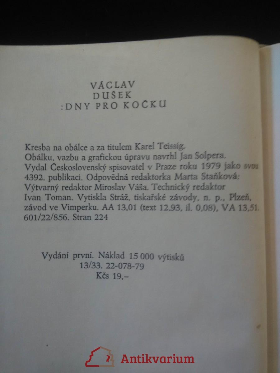 Dny pro kočku (Ocpl, 224 s., ob a front K. Teissig)