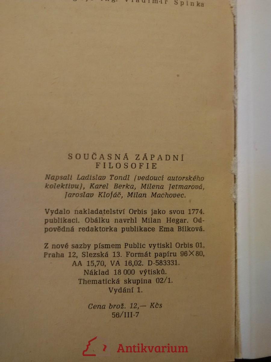 Současná západní filosofie (Obr, 216 s.)