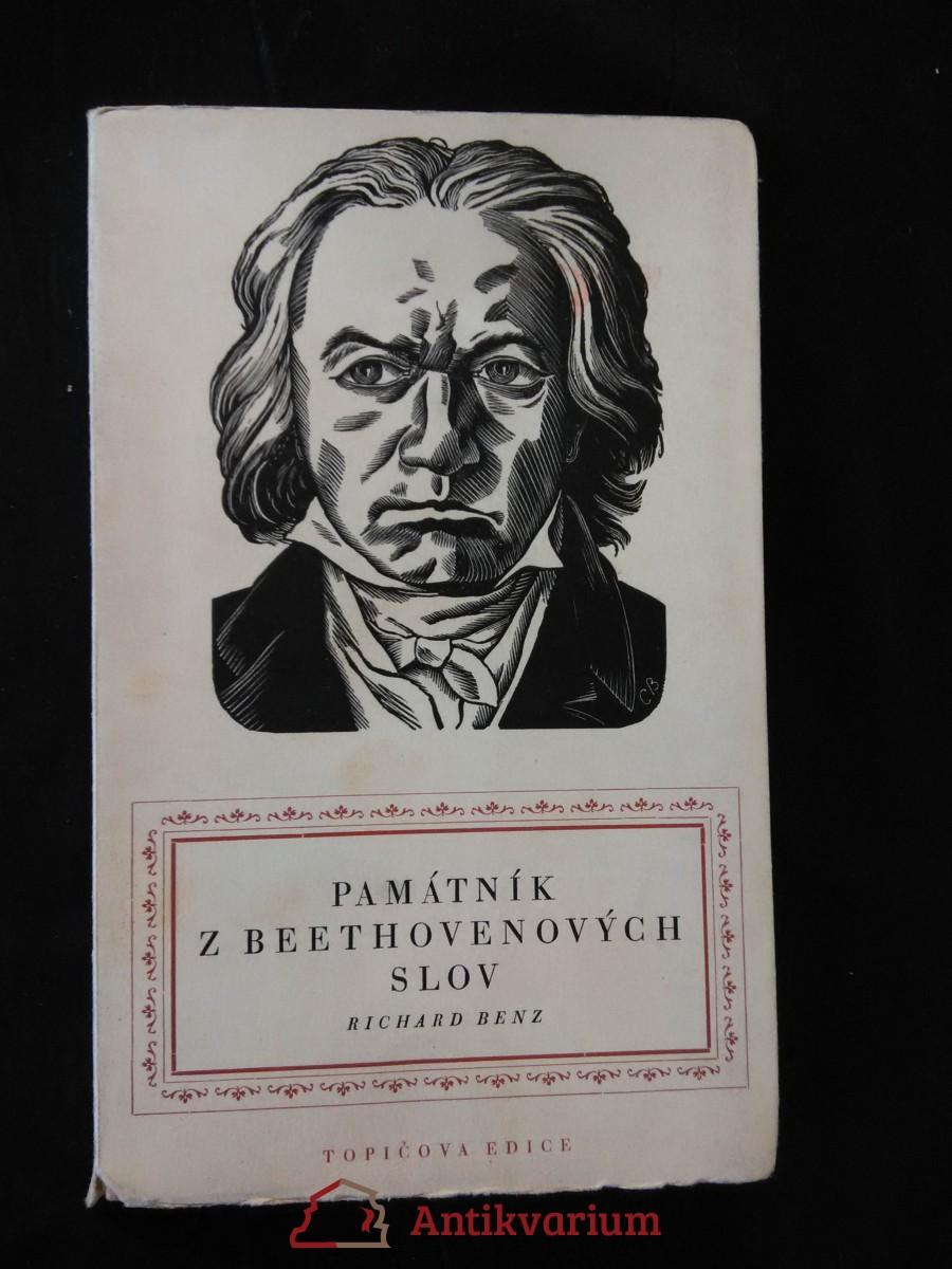 antikvární kniha Památník z Beethovenových slov (ob. + graf. úprava C. Bouda), 1941