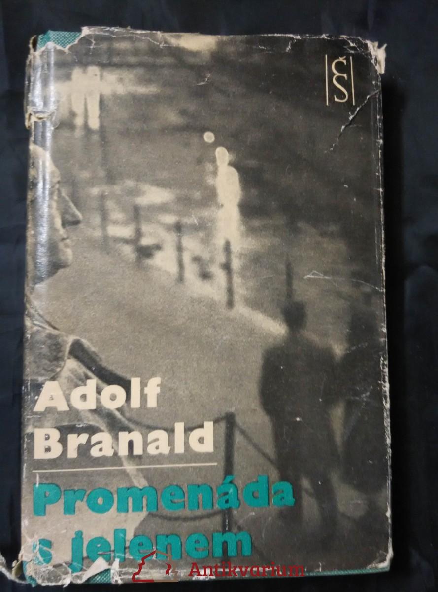 antikvární kniha Promenáda s jelenem (1. vyd., foto V. Radechovský), 1963