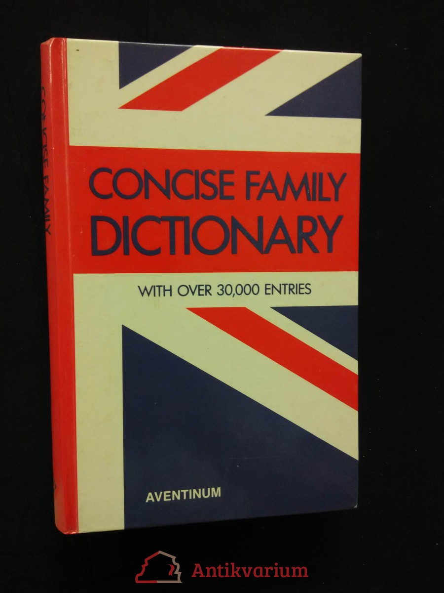 antikvární kniha ConciseFamily Dictionary - with over 30000 entries (A4, lam, 506 s.), 1991