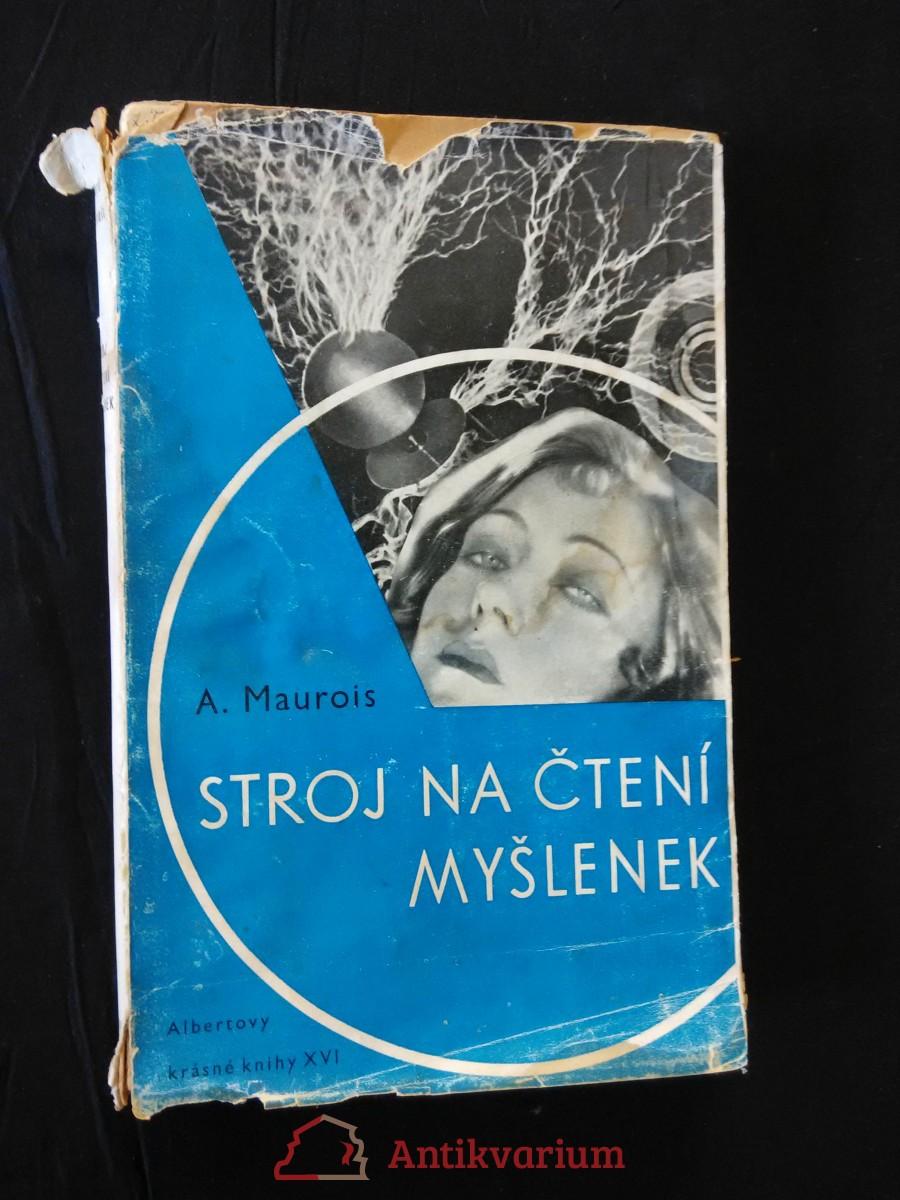 antikvární kniha Stroj na čtení myšlenek (Obr, 152 s., ob. F. Muzika), 1938