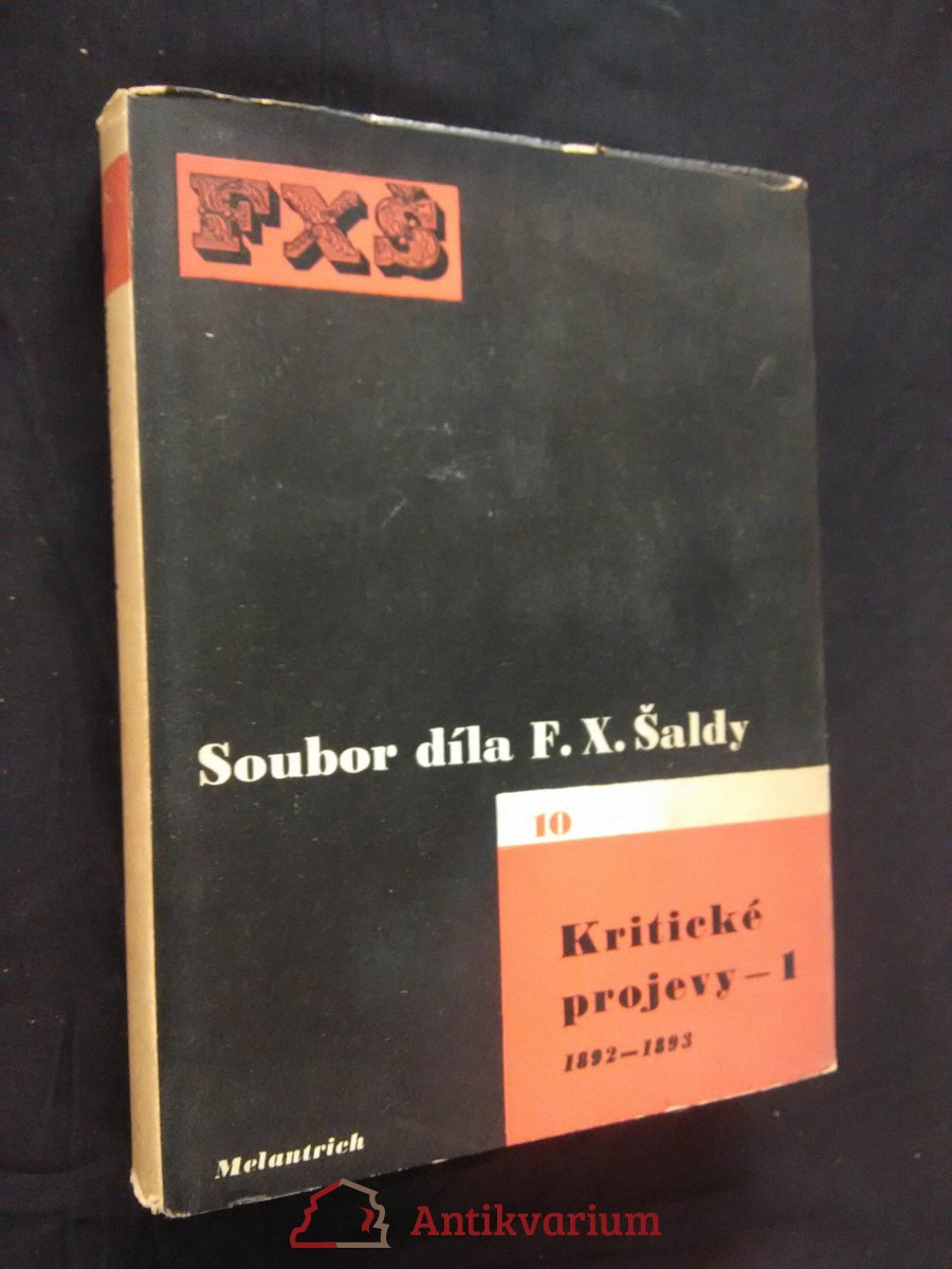 Kritické projevy 1 - 1892 - 1893 (Oppl, 404 s., ob a typo K. Teige)