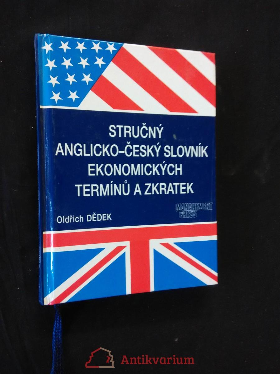 Stručný anglicko-český slovník ekonomických termínů a zkratek (lam, 144 s.)