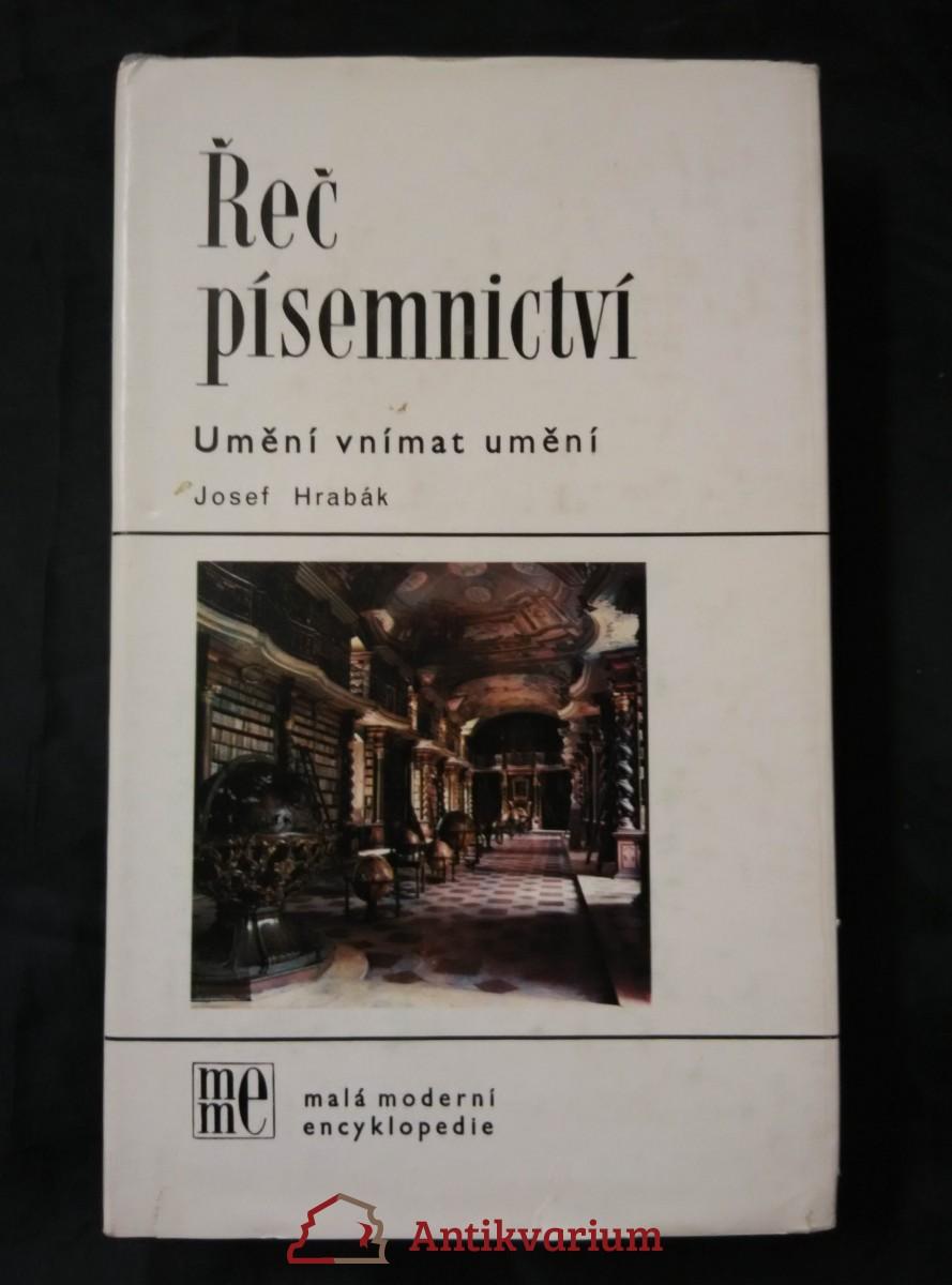 antikvární kniha Řeč písemnictví, 1986