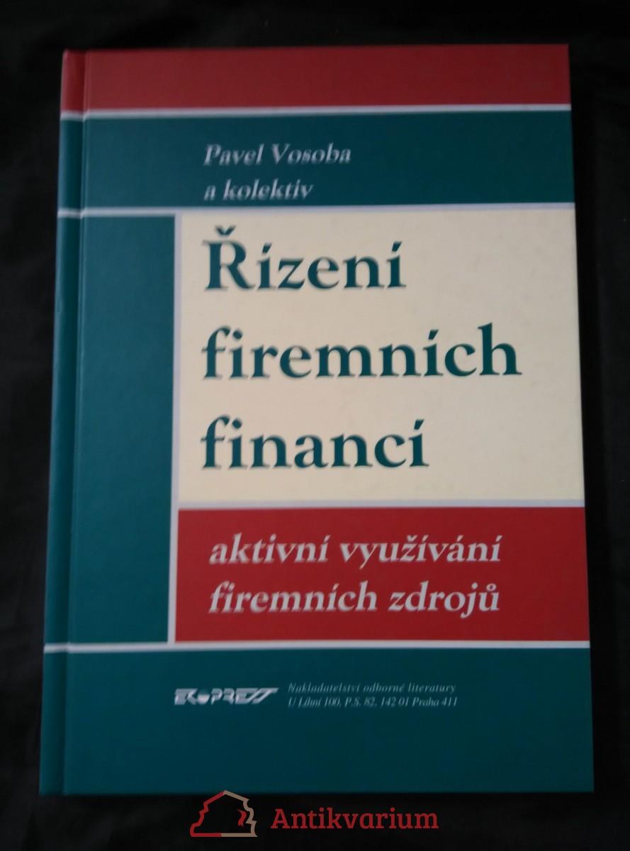Řízení firemních financí - aktivní využívání firemních zdrojů (A4, lam, 222 s.)